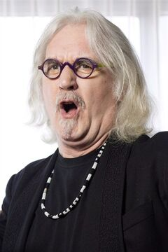 Actor and comedian Billy Connolly poses for a photo as he promote the movie