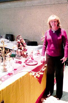 Rossmere MLA Erna Braun is pictured attending a Diwali Mela celebration at the RBC Convention Centre Winnipeg.