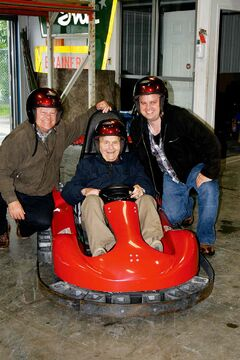 Ken, Dave and Ted Dzogan at Thunder Rapids Fun Park on Father's Day.