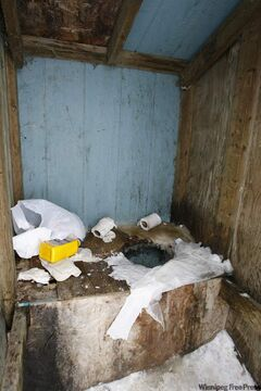 The public outhouse outside the Pikangikum First Nation, Ont., band office in 2007, about 100 kilometres north of Red Lake, Ont.