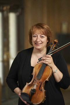 Winnipeg Symphony Orchestra first-violinist Mona Coarda is shown.