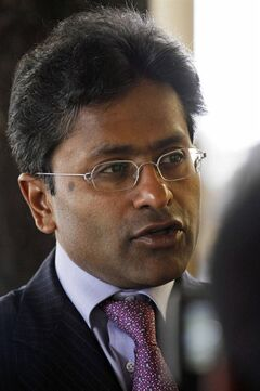 FILE- In this April 17, 2010 file photograph, then Indian Premier League (IPL) chief Lalit Modi talks to the media in Dharmsala, India. Modi was declared Tuesday, May 6, 2014 winner of elections for president of the Rajasthan Cricket Association despite being under a life ban from the sport's national governing body. (AP Photo/Ashwini Bhatia, file)