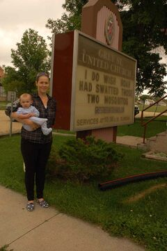 Grey Street United Church open house organizer Meghan Beasant and six-month-old son Connor hope for a warm reception to the open house's return.