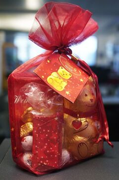 A package with Lindt's