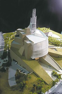 Architect's model of the Canadian Museum for Human Rights.