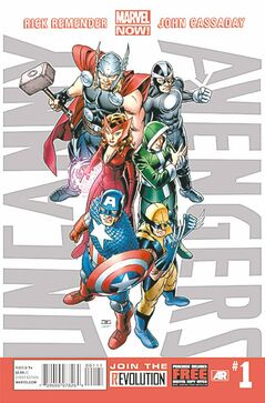 This image provided by Marvel Entertainment shows the cover of the first issue of Uncanny Avengers.