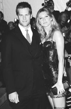 Tom Brady and his wife, Gisele Bundchen. Aren't they a cute couple?