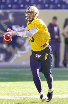 Quarterback Max Hall will be at the Bombers mini-camp in Bradenton, Fla.