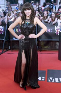 Carly Rae Jepsen poses on the red carpet during the 2012 Much Music Video Awards in Toronto on June 17, 2012. There's no