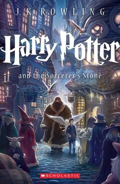 This book cover image released by Scholastic Inc., shows the cover for the U.S. trade paperback editions of J.K. Rowling's blockbuster