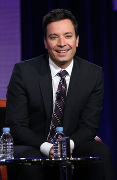 File-This photo released by NBC shows Jimmy Fallon who will be the new host of