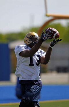 Chris Matthews at a Bomber practice earlier this month.
