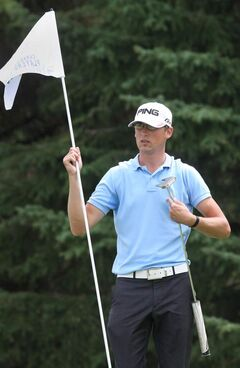 Chris Killmer of from Bellingham, Wash. leads by four strokes at the halfway point of the Canadian Tour Players Cup at Pine Ridge Golf Club.