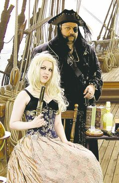 Holly Halftone and Mike Paille are ready  for Saturday's renaissance festival