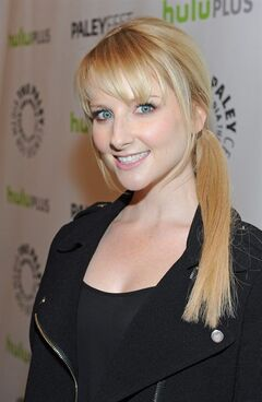 Melissa Rauch poses on arrival at the Paley Center for Media's PaleyFest, honoring The Big Bang Theory at the Saban Theatre, Wednesday March 13, 2013 in Los Angeles, California. (Photo by Kevin Parry/Invision/AP)