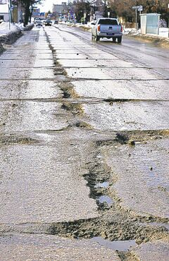 Salter Street is one of many rife with potholes.