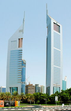 The Jumerirah Emirates Towers in Dubai.