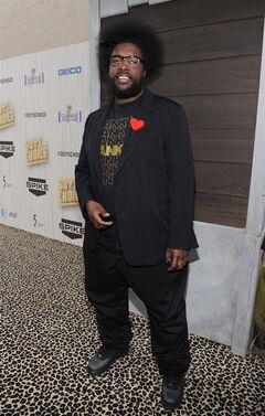 FILE - In this June 8, 2013 file photo, Questlove arrives at Spike TV's Guys Choice Awards at Sony Pictures Studios in Culver City, Calif. The Roots leader is executive producing a music series for VH1 that will feature three artists performing simultaneously on one stage.