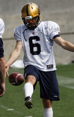 Punter Brett Cameron at training camp earlier this month.