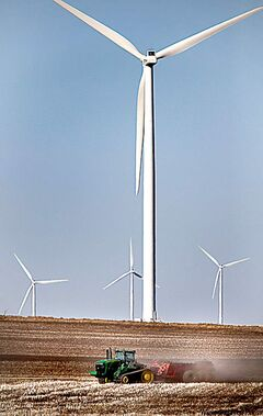 A wind farm near St. Leon