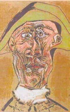 Harlequin Head  by Picasso