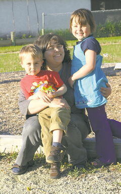 Transcona resident Deborah Dykstra with her six-year-old daughter Abigail, and four-year-old son Matthias.