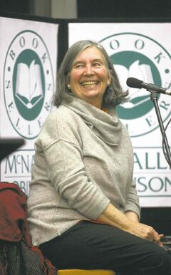 Author Diana Beresford-Kroeger beams before lecturing at McNally Robinson recently.