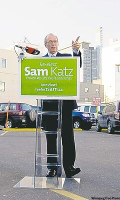 Mayor Sam Katz makes surface parking lot pledge Wednesday afternoon.