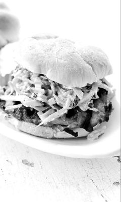 Thai Peanut Barbecue Turkey Cutlet Burger,