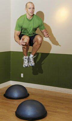 Rob Williams doing plyometrics exercises.