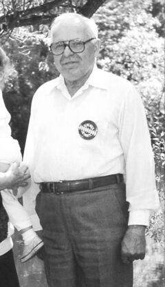 Michael Karkoc in Lauderdale, Minn., prior to a state visit from Soviet president Mikhail Gorbachev in June 1990.