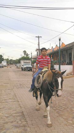 They still ride horses in El Quelite, a  traditional Mexican village in Mazatlan.