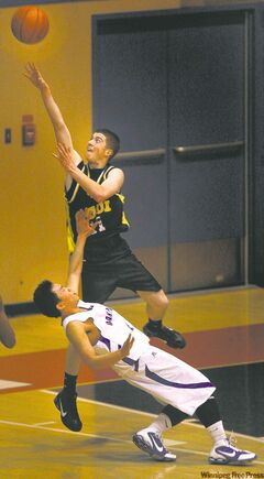 Garden City's Chris Benevides (top) burned Oak Park for 39 points.