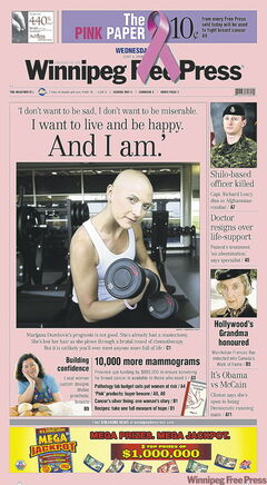 The Pink Paper, an issue dedicated to breast cancer.