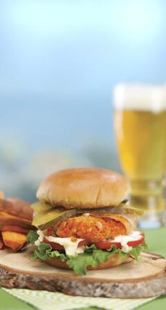Smoky Trout Burger -- trout is available in all parts of the country, but there's no reason to limit the way it's served to pan-frying.