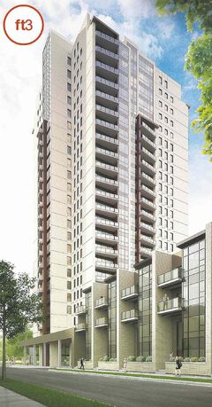 Crystal Developers' Heritage Landing is being built on Assiniboine Avenue. (Artist's rendering)