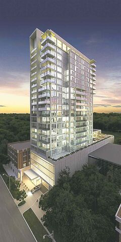 Rendering of the D Condo project.