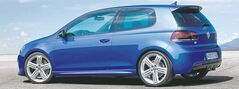 The Volkswagen Golf R pumps out 256 horsepower and is the most potent Golf version to date.