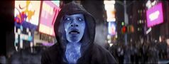 Electro, played by Jamie Foxx, is pictured in a scene of