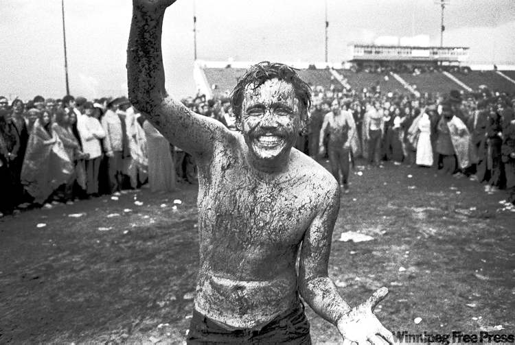 The rain was torrential, turning the field into a mud bowl that was fun at first, until the wind turned cold.