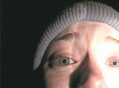 Heather Donahue in a scene from the influential film The Blair Witch Project, released 15 years ago.