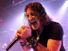 FILE - In this Sunday, April 6, 2014, file photo, singer Scott Stapp, of the band Creed, performs solo in concert at Soundstage, in Baltimore. In a video posted on his Facebook page, Wednesday, Nov. 26, 2014, Stapp said he is broke and living in a hotel. Stapp said he had been living in his truck and had no money for gas or food. (Photo by Owen Sweeney/Invision/AP, File)