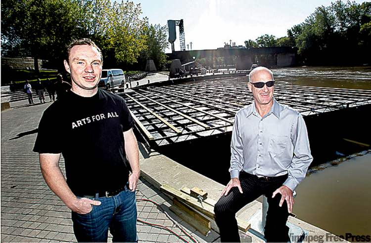 Cultural Capital Project manager Dominic Lloyd, left, and Forks COO Paul Jordan.