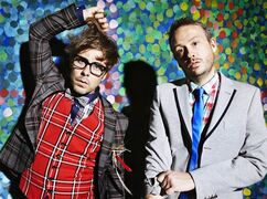 Felix Buxton, left, and Simon Ratcliffe, of the electronic music duo of Basement Jaxx pose in this undated handout photo. Basement Jaxx aren't usually associated with restful breathers. But the high-energy British electronic dance innovators have in fact been dormant the past five years, the longest break between recordings of their long career. Over that five-year span, the pair watched from the sidelines as EDM exploded -- and as longtime friends and cohorts in the chrome-plated pair Daft Punk mined platinum records and Grammy gold. But as they issue new album