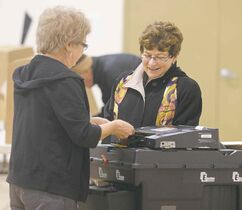 Judy Wasylycia-Leis casts her ballot at Luxton School in the North End during the last civic election.