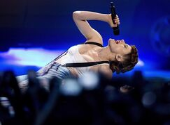 Kiesza performs during the 2014 Much Music Video Awards in Toronto on Sunday, June 15, 2014. With the one-shot, non-stop