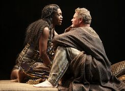 Yanna McIntosh as Cleopatra and Geraint Wyn Davies as Mark Antony are pictured in a scene from Antony and Cleopatra. THE CANADIAN PRESS/HO, Stratford Festival - David Hou