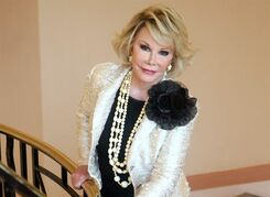 Joan Rivers poses for a photo in Cannes, France on Oct. 5, 2009. THE CANADIAN PRESS/AP, Lionel Cironneau
