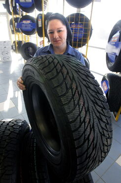 Melissa Farrell says the Kal Tire store she works at has been busy installing winter tires. Depending on where you order them, you could be waiting weeks to get your winter tires installed.