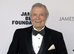 FILE - This May 5, 2014 file photo shows Jacques Pepin in New York. The French chef who introduced generations of Americans to refined cuisine, is recovering after suffering a minor stroke. Pepin, 79, was at his Connecticut home with friends Sunday evening, March, 22, 2015 when he began displaying symptoms of a stroke. He received prompt treatment and was released from the hospital Tuesday, March 24, 2015 according to his daughter, Claudine Pepin. He is expected to make a full recovery. (Photo by Andy Kropa/Invision/AP, File)